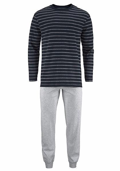 Schiesser Pánska pruhovaná dlhá pyžama