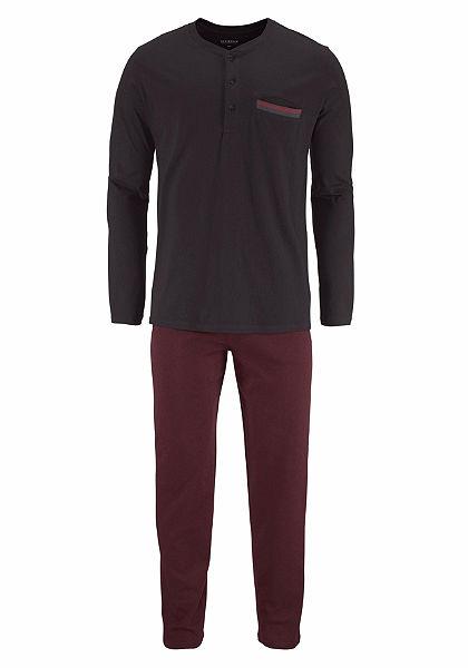 Schiesser Pánska dlhá pyžama s gombíkovou légou