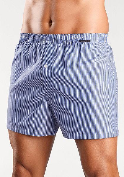 Schiesser Tkané boxerky modré pruhované