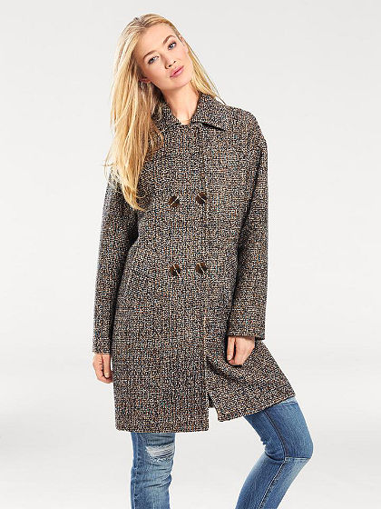 B.C. BEST CONNECTIONS by heine Krátky kabát dvojradový, uzlíčkový materiál