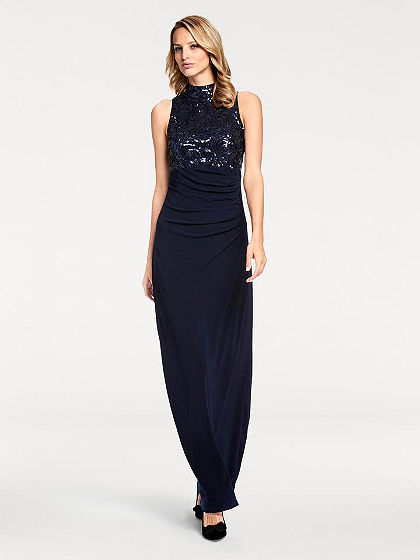 ASHLEY BROOKE by heine Večerné šaty s flitrami, zavinovací vzhľad
