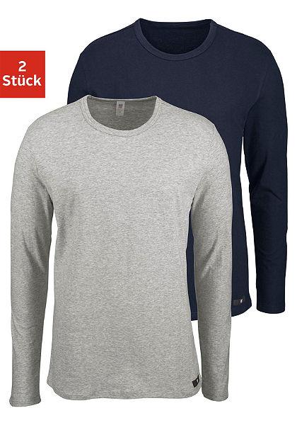 H.I.S Tričko s dlouhými rukávy (2 ks) z bavlny