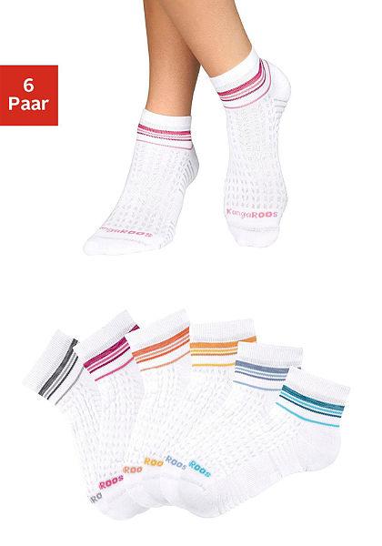 Kangaroos Krátke ponožky, pruhovaný dizajn (6 párov)