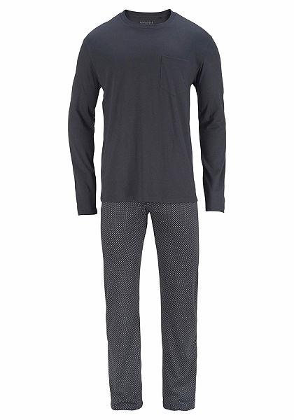 Schiesser Pyžama dlhá, vzorované nohavice
