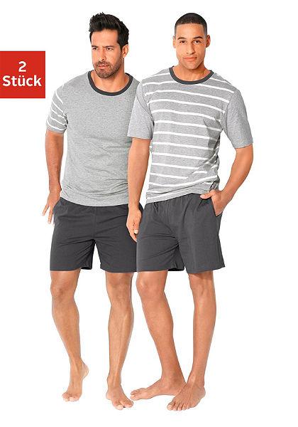 Le Jogger Pyžamo krátké, (2 ks) s proužky