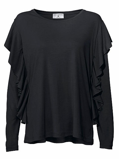 RICK CARDONA by heine Volánikové tričko melírované