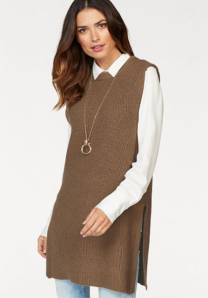 Laura Scott hosszú fazonú ujjatlan pulóver