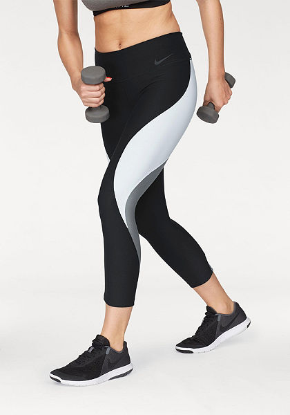 Nike Športové legíny »W NIKE POWER LEGEND CROP COLORBLOCK VNR«