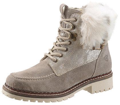 Tamaris fűzős magasszárú cipő