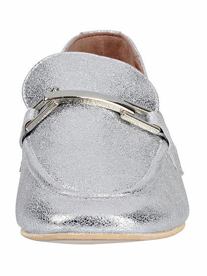 XYXYX Nazúvacie topánky s metalickým efektom