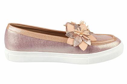 Heine Nazúvacie topánky s kvetinovou aplikáciou