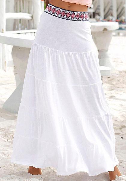 s.Oliver RED LABEL Beachwear Dlhá letná sukňa