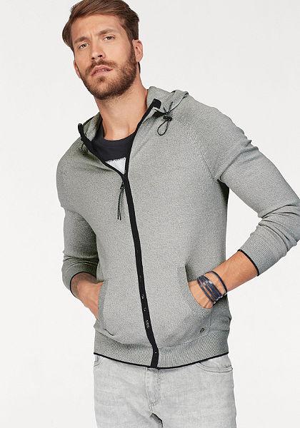 John Devin Pletený sveter s kapucňou