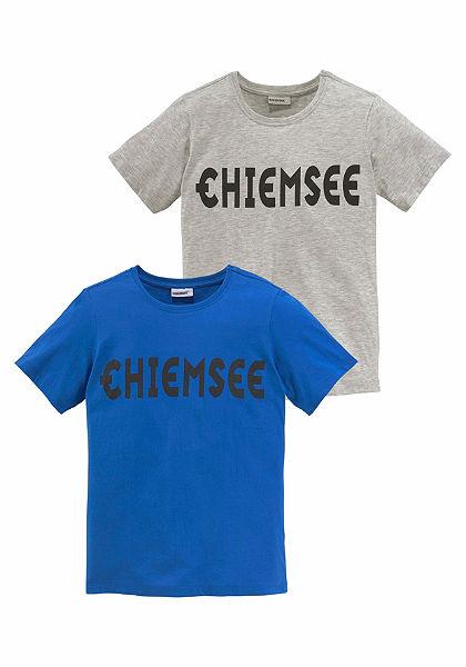 Chiemsee kereknyakú póló logó mintával 2 részes csomagolásban