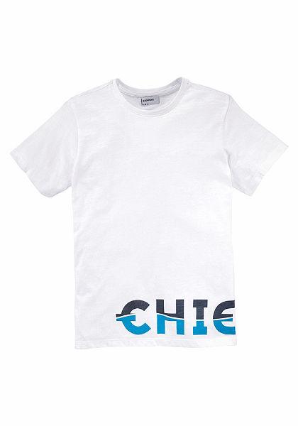 Chiemsee póló nagy logó mintával és egyenes szabással