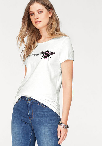 Vero Moda Tričko s kulatým výstřihem »QUEEN BEE«