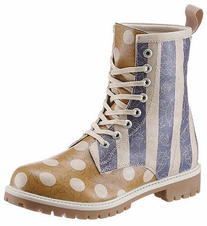 DOGO Šnurovacie topánky »pruhy a bodky«