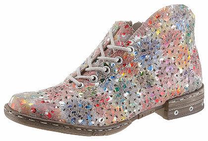 Rieker fűzős cipő színes lézervágott mintával