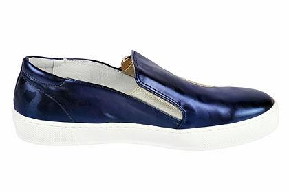 Heine slip on cipő trendi mintával és cipzárral
