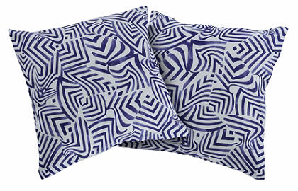 Guido Maria Kretschmer Home&Living Obliečka na vankúš »modré vlny«