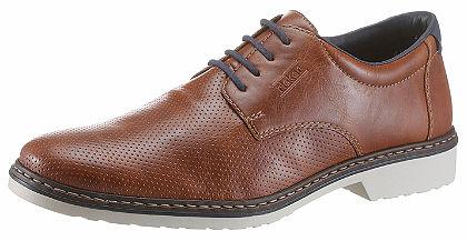 Rieker elegáns műbőr fűzős cipő fehér talppal