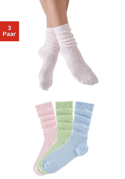 Ráncolt szárú zokni (3 pár)