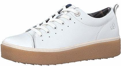 s.Oliver RED LABEL plató talpú bőr sneaker cipő