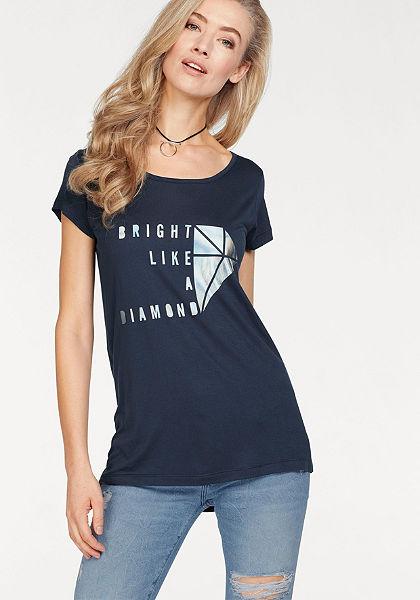 Cross Jeans® Tričko s kulatým výstřihem