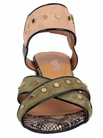 heine Sandále s vysokým podpätkom a nitmi