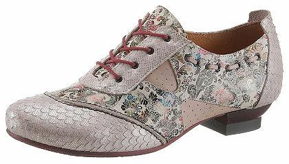 Simen fűzős bőr cipő feltünő mintával díszítve