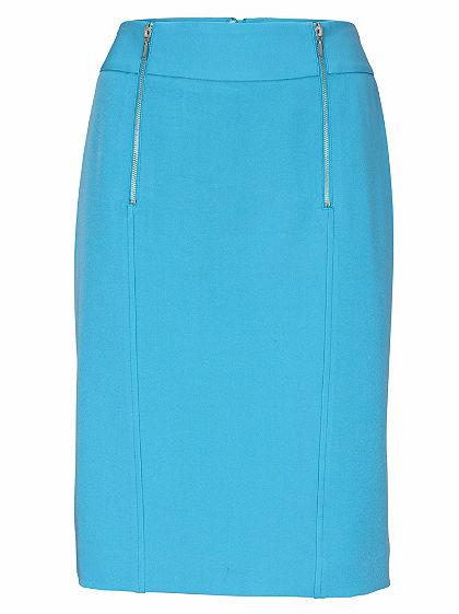 ASHLEY BROOKE by heine Úzka sukňa s dekoratívnymi zipsami