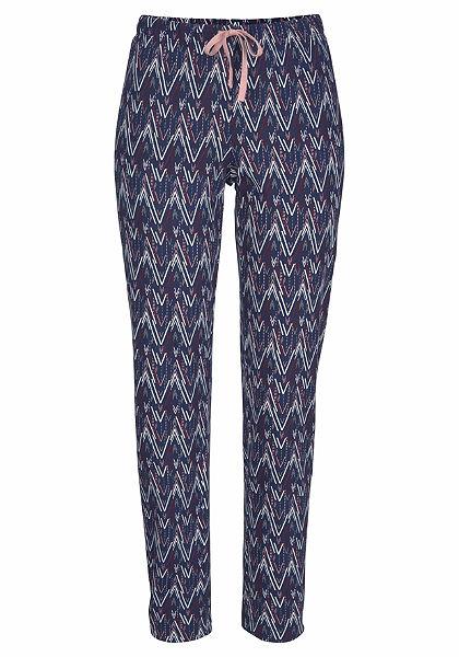 Petite Fleur Pyžamové dlouhé kalhoty s celoplošným vzorem