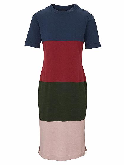 B.C. BEST CONNECTIONS by heine Pletené šaty, vzhľad farebných blokov