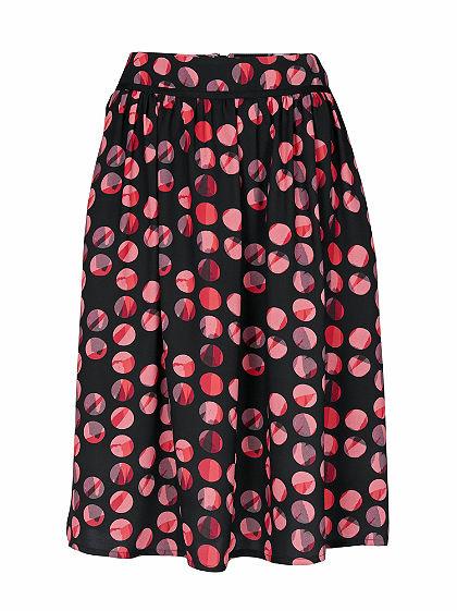 ASHLEY BROOKE by heine Vzorkovaná sukně s puntíky