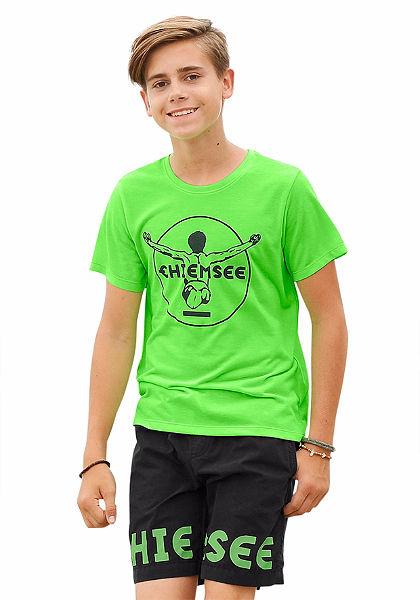 Chiemsee kereknyakú póló nyomott mintával