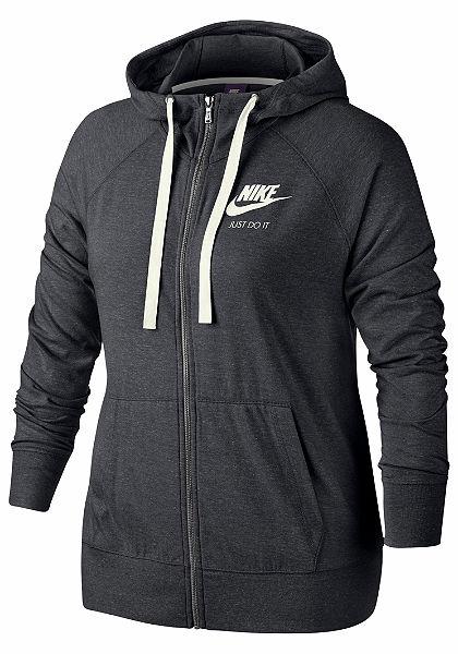 Nike Sportswear Mikina s kapucí »W NSW GYM VNTG HOODIE FZ EXT PLUS SIZE«