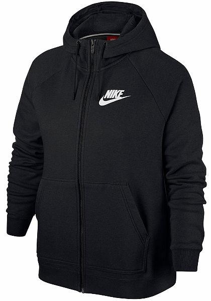 Nike Sportswear Mikina s kapucí »W NSW RALLY HOODIE FZ SB EXT PLUS SIZE«