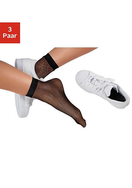 Buffalo Síťované ponožky (3 páry)