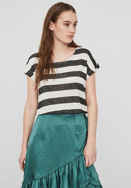 Vero Moda Tričko s kulatým výstřihem »WIDE STRIPE«