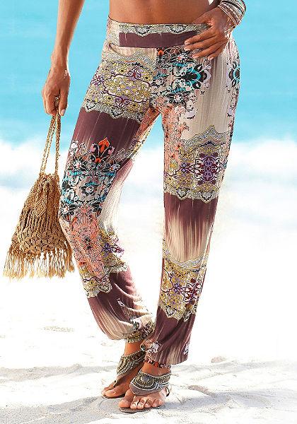 Buffalo London Plážové kalhoty v etno stylu