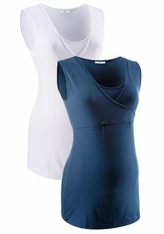 Neun Monate Top pro kojící matky (2 ks) námořní modř+bílá - standardní velikost 36/38