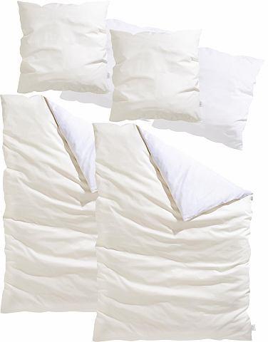 Guido maria kretschmer home & living Oboustranné ložní prádlo »Yuna« GMK Home & Living krémová-bílá - 2 ks 80 x 80 cm - satén 2 ks 155x220 cm