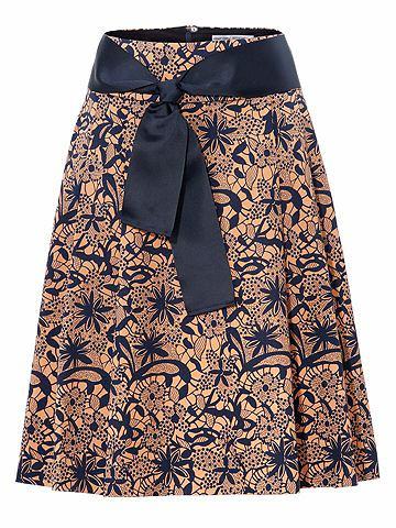 Ashley Brooke by heine ASHLEY BROOKE by heine Formující vzorovaná sukně s efektem bříško pryč námořnická modrá-písková 34
