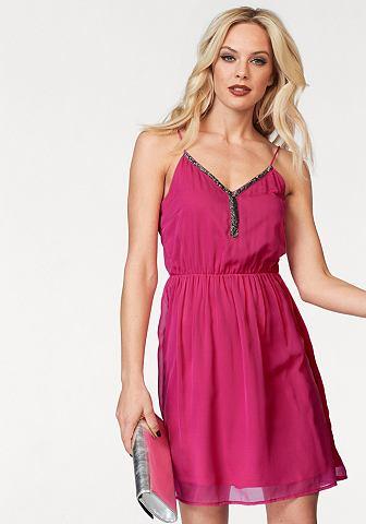 Vero moda® Vero Moda Šifónové šaty »LUPE« pink - standardní velikost M (38)