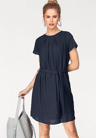 Vero moda® Vero Moda Šifónové šaty »NELLI« námořická modrá - standardní velikost M (38)