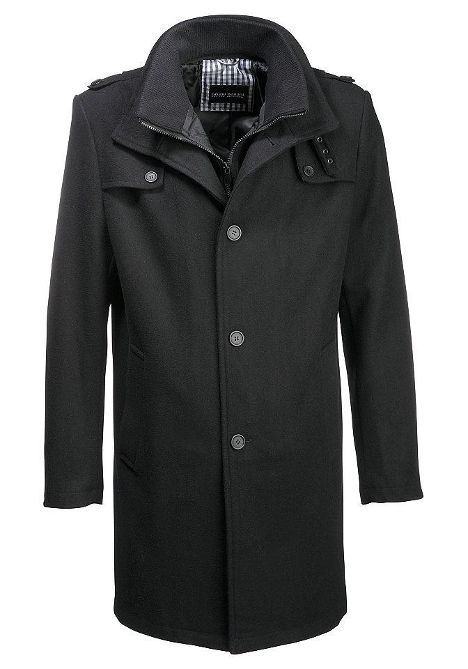 Bruno Banani Vlněný kabát Bruno Banani černý - standardní velikost 44