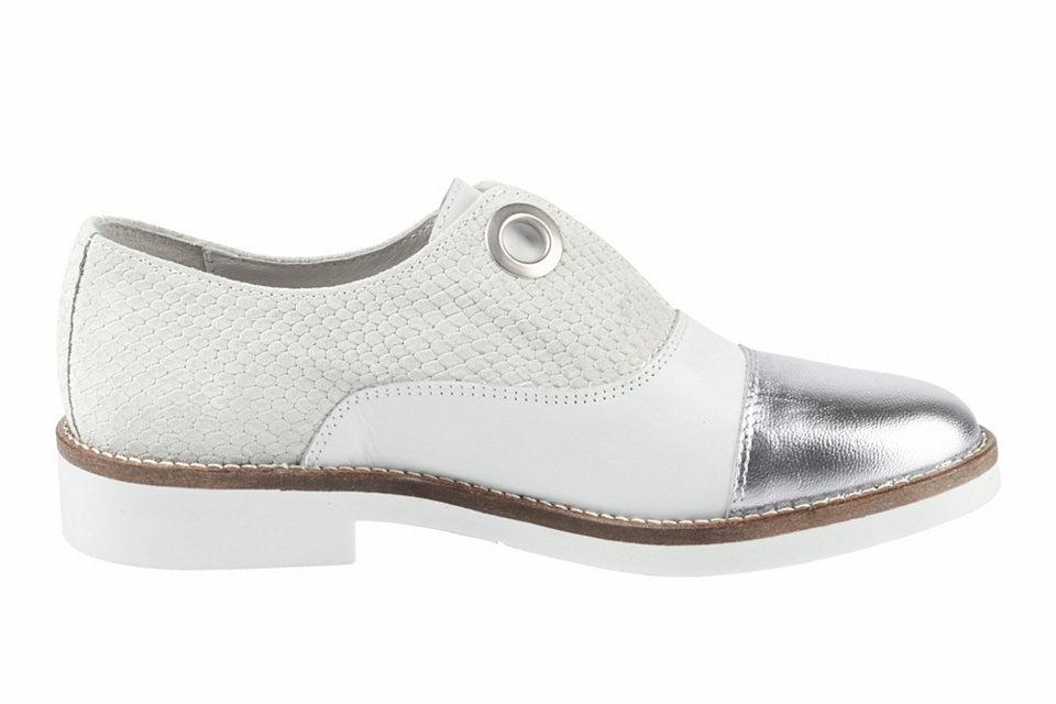 Heine Nazouvací boty, mix materiál? a barev heine stříbrno-bílé 38