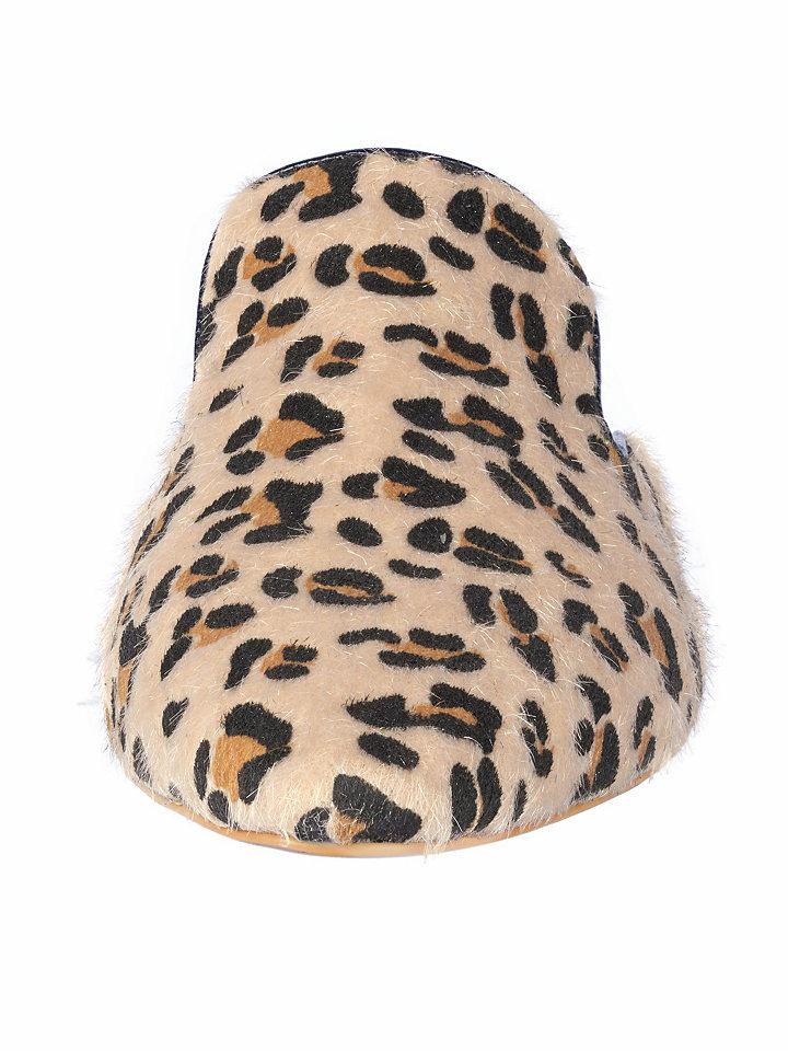 heine Pantofle, leopardí vzor heine černo-béžové 36