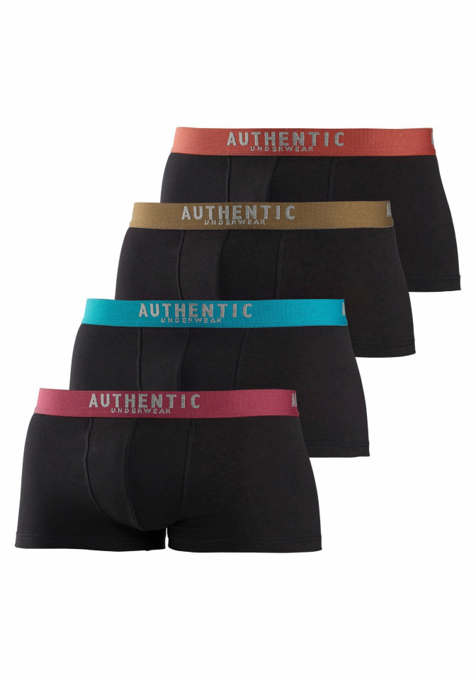 AUTHENTIC UNDERWEAR Authentic Underwear Le Jogger Bedrové boxerky (4 ks) 4x černá 4