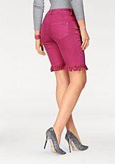 Arizona Riflové šortky »mit Fransen«